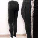 B16828 Damen Jeans Hosen, Silber Streifen