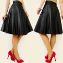 wholesale Skirts: BB66 BEAUTIFUL,  pleated skirt, MIDI, EKO LEATHER