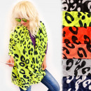 groothandel Kleding & Fashion: FL715 Dames Sjaal, Sjaal, Neon Luipaard