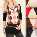 Großhandel Pullover & Sweatshirts: C17207 Modischer Pullover, Weste, Diamanten, LanaM