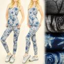 Großhandel Shirts & Tops: FL498 Set-Top + Gamaschen, Fitness, Roses