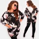 Großhandel Kleider: EM75 Elegantes Kleid, Blumen, Spitze, Pailletten