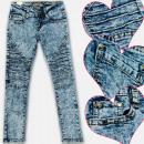 grossiste Vetements enfant et bebe: A19193 Jeans Fille Pantalons, Marbles, 4-12 ans