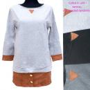 ingrosso Ingrosso Abbigliamento & Accessori: Tunica da donna, camicetta lunga, inserti in pelle
