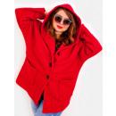 wholesale Coats & Jackets: EM20 Women Plus Size Jacket, Kimono, Boucle CZERW