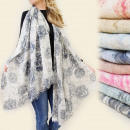 wholesale Scarves & Shawls: FL126 BEAUTIFUL  SCARF, MODEL In SUBTLE MIX OF ROSE