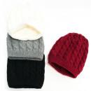 Großhandel Kopfbedeckung: Warmer Damenhut, 2 Lagen, Geflecht, 5087