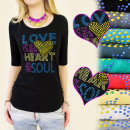 D2612 FASHION BLOUSE, TOP, Love is IS THE HART OF