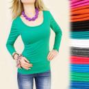 wholesale Shirts & Tops: C1190 CLASSIC TOP, BLOUSE, BEAUTIFUL DECOLT, COLOR