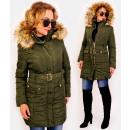 wholesale Coats & Jackets: 4418 Winter Women's Jacket with Fur, Khaki