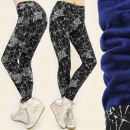 wholesale Trousers: 4055 showy  Leggins, WARMING: fur, graphic pattern
