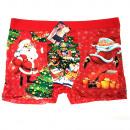 Großhandel Dessous & Unterwäsche: Herren Christmas Boxershorts, Baumwolle L-3XL, 579