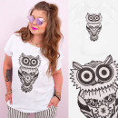 wholesale Toys: K622 Cotton Women Shirt, Plus Size, Funny Owl