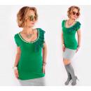 ingrosso Ingrosso Abbigliamento & Accessori: BB200 Camicetta romantica con perle, balza