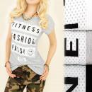 K439 Katoenen Bloes, Liefde, Mode, Fitness