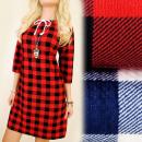 C11292 Trapez-Tunika, Kleid, schöner Ausschnitt