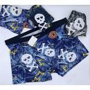 4838 Bamboo Boxer Shorts Men, L-3XL, Skull