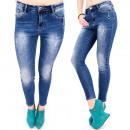 B16628 Pantalon Nice Jeans, Ligne Skinny, Deep Blu