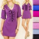 Großhandel Kleider: C17172 Herbst, beeindruckende Tunika, Kleid, Rüsch