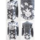 wholesale Pullover & Sweatshirts: K86 Warm Long Sweater, Tunic, Flowers Pattern