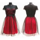 Großhandel Kleider: Romantisches Kleid, Uni, Spitze und Tüll, D14131