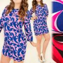 Großhandel Kleider: 4145 Klassisch, weites Kleid, Tunika, Übergröße