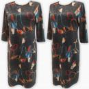 Großhandel Kleider: D4064 Kleid, Made in Poland, Plus Size 44-52