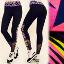 C17161 Sports  Leggings, Jogging, Gym, Mesh