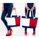T48 Large City  Ladies Bag, Shopper, Red&White
