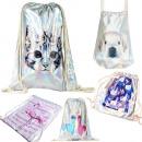Großhandel Rucksäcke: Damenrucksack Sack, Hologramm, Tiere A1855