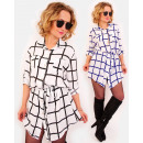 A1002 Tied Dress, Loose Tunic, Checkred