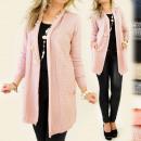 G101 lange,  elegante Pullover, Strickjacke, mit PO