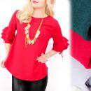 Großhandel Hemden & Blusen: C24162 schicke Bluse, lose Linie, Frills