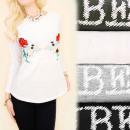 Großhandel Hemden & Blusen: K467 Herbstbluse, Oberseite, lange Hülse, gute Vib