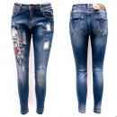 Damen Jeans, 25-30, Print und Patches, B16883