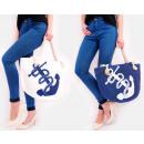 Großhandel Handtaschen: T55 Attraktive und große Damentasche, großer Anker