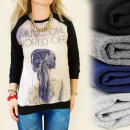 Großhandel Fashion & Accessoires: K237 BLOGGING SWEATSHIRT, MUSIC ON, MODESCHMUCK