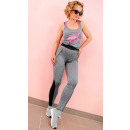 4358 Sports Leggings Fitness pants, with Zipper