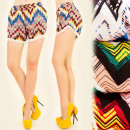 wholesale Shorts: FL504 Summer,  Light Shorts,  Trendy Zigzag, ...