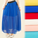 wholesale Skirts: BI473 Airy, Long  Skirt, Ornate Pockets