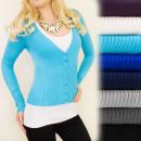 ingrosso Ingrosso Abbigliamento & Accessori: C17177 Autunno,  maglione Charming con bottoni, Ray