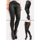 wholesale Fashion & Apparel: Warm Black Latex Leggings, Glossy, S-3XL, 5084