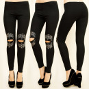 wholesale Fashion & Apparel: C17252 Comfortable  Leggings, Jets, Holes on Knees