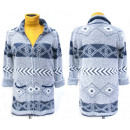 wholesale Pullover & Sweatshirts: Christmas Fluffy Cardigan With Collar, M-2XL, 5134