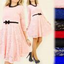BI111 ROMANTIC, COCKTAIL DRESS, bow AND LACE, MIX