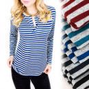 Großhandel Fashion & Accessoires: C11470 Warme Bluse, Mega Paseczki, ...