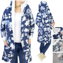 4506 Long Sweatshirt Cape, Hoodie, Outfit, Blumen