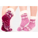 4362 Fur Warm Socks, ABS Slippers, Snowflakes