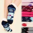 4175 Warm Socks, ABS slippers, Faux fur, Scandi