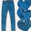 A19195 Pantalones Vaqueros para niñas, Patrón de c